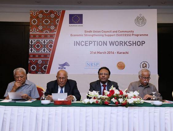 Inception workshop of SUCCESS Programme held in Karachi | SUCCESS